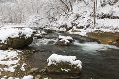Winter River Scenic Royalty Free Stock Images