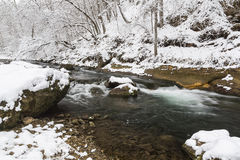 Winter River Scenic Royalty Free Stock Photo