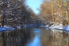 Winter River Stock Images