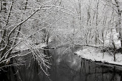 Winter river snow Stock Images