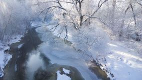 Winter river. Sunny frosty day. Royalty Free Stock Photography