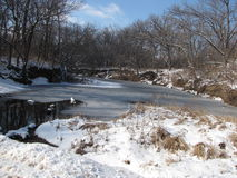 Winter river. Between thaw and frozen Royalty Free Stock Images