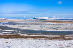 Winter river valley (aspect from ocean coast) Stock Images