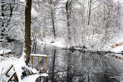 Winter river Stock Photos