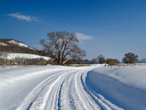 The Winter road Royalty Free Stock Image