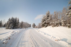 Winter road. Stock Photos