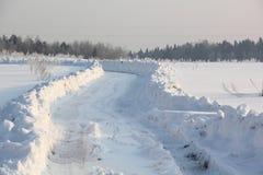 Winter road. Stock Photo