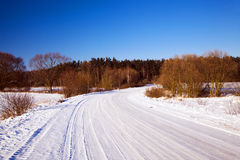 The winter road Royalty Free Stock Images
