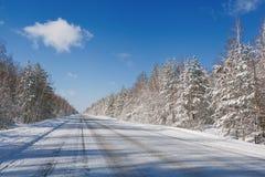 Winter Road Stock Photos