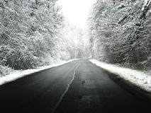 Winter road stock photos