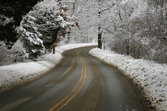 Free Winter Road Royalty Free Stock Photo - 4242215