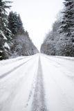 Winter road stock image