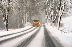 Winter road clearance Royalty Free Stock Images