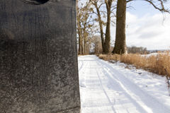 Winter road, close-up Stock Photography