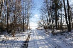 Winter road, close-up Royalty Free Stock Photos