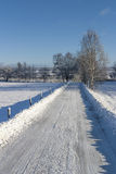 Winter road in the countryside Royalty Free Stock Images