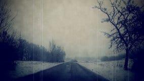 Winter road Czech Republic. stock video