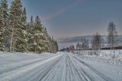 Winter Road in Finland Stock Photo