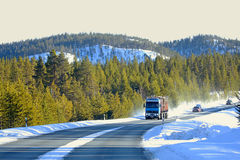Winter road in Finland. Royalty Free Stock Photos