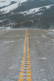 Winter Road, Highway 40 Royalty Free Stock Images