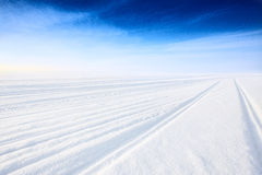 Winter road on ice Royalty Free Stock Photo