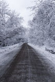 Winter Road. Just a hard for travel road in the winter Royalty Free Stock Photography