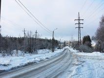 Winter road landscape Stock Image