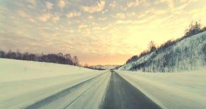 Winter road. Royalty Free Stock Photo