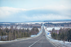 Winter road Royalty Free Stock Images