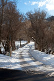 Winter Road in Mountains Royalty Free Stock Photo
