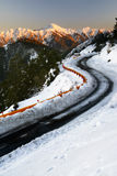 Winter road with snow Royalty Free Stock Image