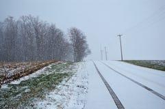 Winter Road Stock Photo