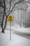 Winter road during snowfall Royalty Free Stock Photo