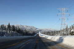 Winter road to the North Stock Image