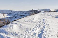Winter road to Orhei Vechi monastery. Moldova Stock Photography