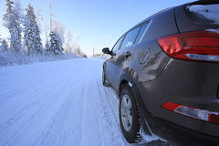 Winter road trip Stock Images