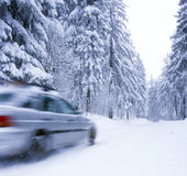 Winter on the roads Royalty Free Stock Photos