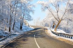 Winter roads Royalty Free Stock Images