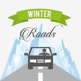 Winter roads design Royalty Free Stock Photos