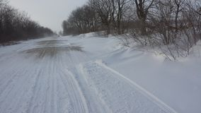 Winter roads Moldova. Royalty Free Stock Images