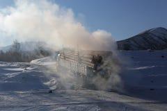 Winter roads. Royalty Free Stock Image
