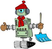 Winter robot Stock Image