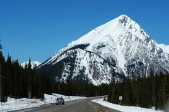 Winter rockies driving Stock Images