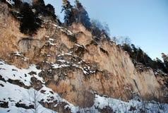 Winter rocks Stock Image