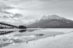Winter Rocky Mountain Landscape Lizenzfreie Stockfotos