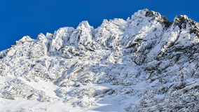 Winter rocky mountain peak Stock Image