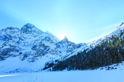 Winter rocky mountain view. Royalty Free Stock Photos