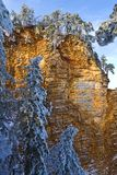 Winter rocky mountains Royalty Free Stock Photos
