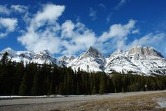 Winter rocky mountains Stock Images