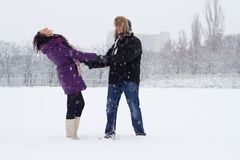 Winter romance Stock Photos